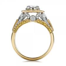 images of gold wedding rings custom two tone gold and yellow and white diamond engagement ring