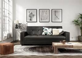 dhp furniture edison faux leather arm futon