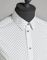 dolce u0026 gabbana gold fit shirt in cotton poplin with little polka