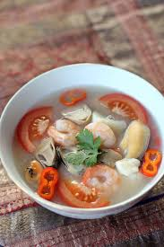 Produce Definition Thai Seafood Soup Tom Yum Talay Ang Sarap