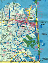 Ocean City Map Bicycle Route Maps Of Ocean City Maryland Fenwick Island Bethany