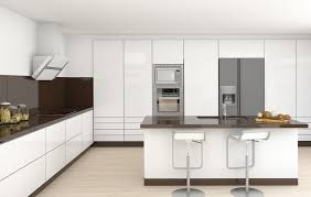 Modern White Kitchen Designs Kitchen Design Ultra Modern White Kitchen With Brown Back Splash