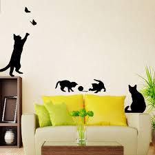 aliexpress com buy new cat playing wall sticker cute living room