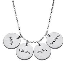 engraved pendants name basis engraved sterling silver disc pendants with 18