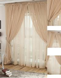 chagne yarn lace curtains for living room