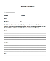 customer request form 29 sample service forms customer request