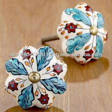 Hand Painted Ceramic Decorative Door Knobs And Pulls For Cabinets
