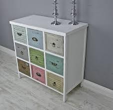 Schlafzimmer Kommode Amazon Elbmöbel Kommode Vintage Aus Holz Mit Bunten Schubladen Im Shabby