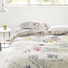 mokuren graphite bed linen designers guild