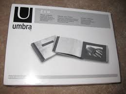 umbra photo album umbra zen photo album wood with silver leaf finish new for sale