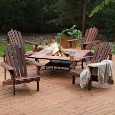 patio furniture fire pit table set luxury patio ideas wooden