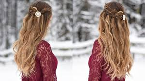 4 strand waterfall half up hairstyle cute girls hairstyles