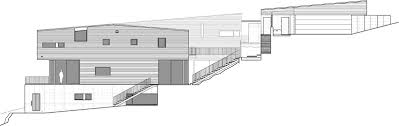 steep hillside house plans showcase courtyard house on a steep site features archinect