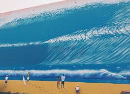 visit a life size surf mural you can safely stand right next to visit a life size surf mural you can safely stand right next to