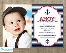 nautical 1st birthday invitations iidaemilia com