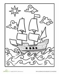 mayflower coloring page coloration thanksgiving et histoire