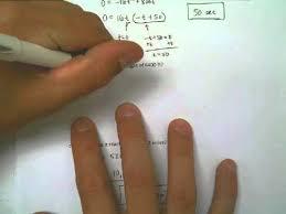 lesson 1 3 video 12 quadratic word problem 2 projectiles