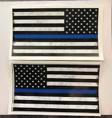 Free American Flag Stickers Thin Blue Line Flag Sticker Mini U0026 Full Size Reversed