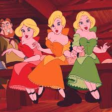 beauty and the beast town beauty and the beast triplets bimbettes disney pinterest