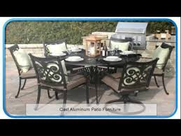 plastic patio furniture cast aluminum patio furniture youtube