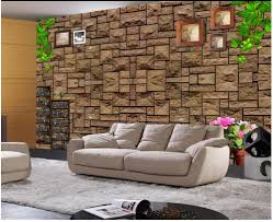 retro wall murals promotion shop for promotional retro wall murals customized 3d photo wallpaper 3d wall murals wallpaper retro brown stone wall tv backdrop wall 3d wallpaper for living room