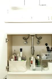 bathroom sink organizer ideas under sink organizers bathroom cabinet storage organization silver 2
