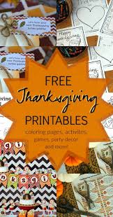 15 thanksgiving printable coloring pages party favors decor games