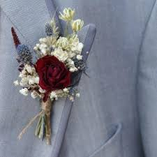 wedding flowers buttonholes rustic winter buttonholes the artisan dried flower company