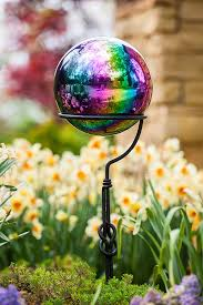 Ceramic Garden Spheres Amazon Com Evergreen Baroque Splendor Mosaic Gazing Ball Patio