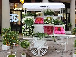 flower cart chanel flower cart