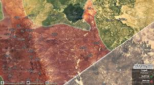 Syria Conflict Map by Qasion News Agency Qasioun Map Syrian Opposition Seize Zolof