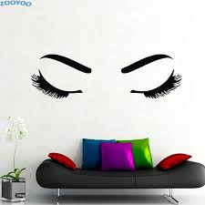 beauty salon decor promotion shop for promotional zooyoo beautiful girl eyelashes makeup wall stickers fashionable home decor beauty salon decoration hot eyes decals