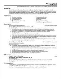 Teaching Resume Samples Sample Early Childhood Lead Teacher Resume