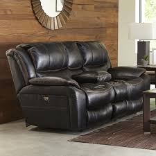 Power Reclining Sofas And Loveseats by Furniture Lavish Loveseat Recliner With Console To Complete Your
