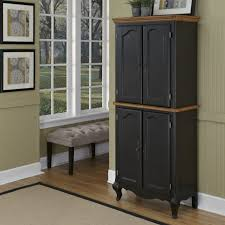 Kitchen Freestanding Pantry Cabinets Coffee Table Cabinet Kitchen Pantry Pine Black Storage With