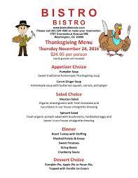 thanksgiving day menu bistro bistro dc