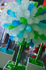 Lollipop Topiary Tree Green U0026 Blue Rock Candy Centerpiece Topiary Tree Candy Buffet