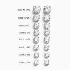 diamond stud sizes diamond earring carat size chart lovely diamond stud