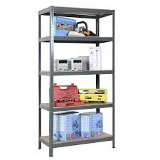 Heavy Duty Garage Shelving by Adjustable 5 Tiers Steel Metal Storage Shelves Bookcases