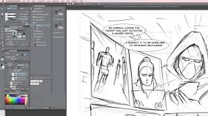 making a comic book page in clip studio paint part 2 layout