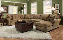Rustic Chaise Lounge U Shaped Gray Microfiber Sectional Sofa With Right Chaise Lounge