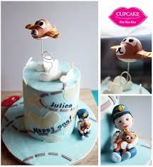 1st birthday cake pilot u0026 rilakkuma theme cupcake kiss kiss kiss