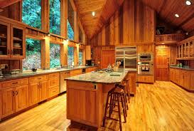 Rustic Oak Kitchen - overhang granite kitchen island loft kitchen design rustic wood