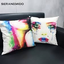 Contemporary Throw Pillows For Sofa by Aliexpress Com Buy Fashion Women Color Printing Pillow
