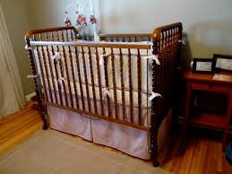Old Baby Cribs by Bedroom Cozy Oak Jenny Lind Crib Plus Light Blue Ruffle Baby Bed