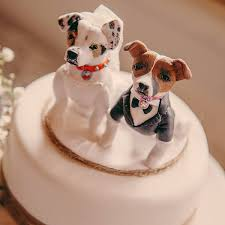 dog cake topper wedding cake toppers on their cakes totally toppers