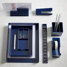 Blue Desk Accessories Color Pop Office Accessories Navy West Elm