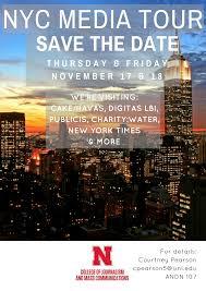 nyc media tour information announce university of nebraska lincoln