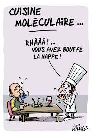 humour cuisine coup de crayon cuisine moléculaire le bouche à oreille