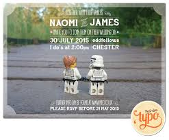funky wedding invites printable and customisable star wars lego wedding invitation